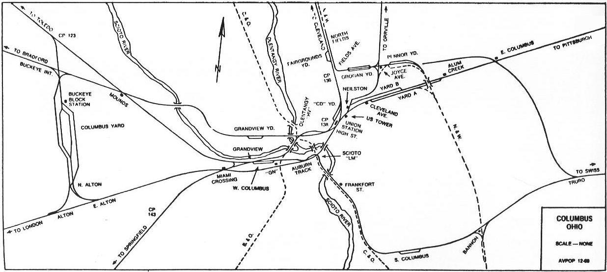 Penn Central Railroad Buckeye Yard And Interlocking Diagrams